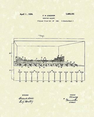 Shooting Gallery 1924 Patent Art Art Print