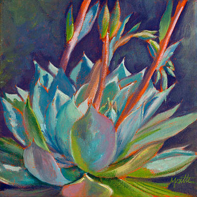 Agave Painting - Shooting Off Rainbows by Athena Mantle