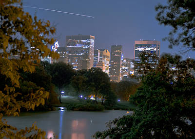 Shooting Star Over Central Park Original by Constantin  Poselski