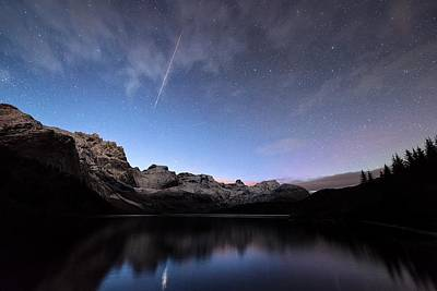 Shooting Star Photograph - Shooting Star by Tommy Eliassen