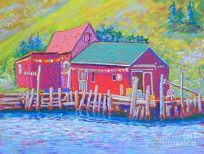 Shop Downtown Tancook Art Print by Rae  Smith