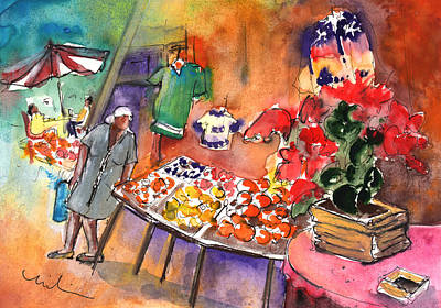 Painting - Shop In The Mountains Of Gran Canaria by Miki De Goodaboom