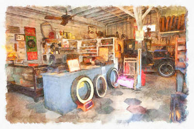 Service Garage Painting - Shop Keeper  by L Wright