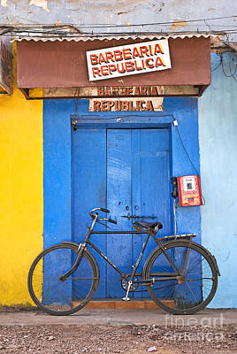 Shop On Street In Goa India Art Print