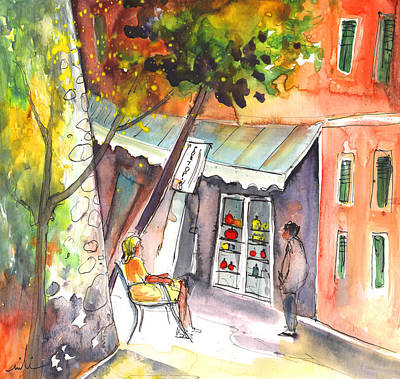 Shop Owner In Portofino In Italy Art Print by Miki De Goodaboom