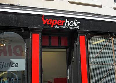Nicotine Photograph - Shop Selling Electronic Cigarettes by Robert Brook