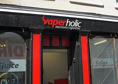 Shop Selling Electronic Cigarettes Art Print
