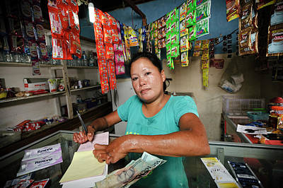 Shopkeeper With Leprosy Art Print by Matthew Oldfield