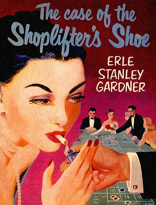 Pulp Magazines Painting - Shoplifter's Shoe. Vintage Pulp Fiction Paperback by Big 88 Artworks