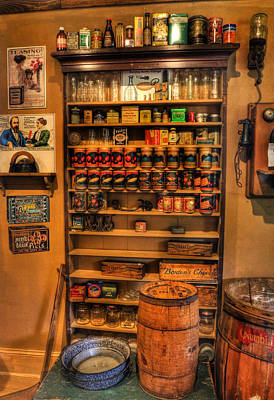 Shopping At The Old Store - General Store Supplies - Vintage - Nostalgia Art Print by Lee Dos Santos
