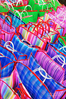 Photograph - Colorful Shopping Bags In A Mexican Market - Travel Photography By David Perry Lawrence by David Perry Lawrence