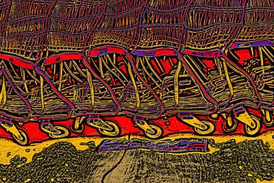 Shopping Carts Art Print by Richard Farrington