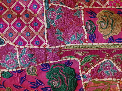 Tapestries Textiles Photograph - Shopping Colorful Tapestry Sale India Rajasthan Jaipur by Sue Jacobi