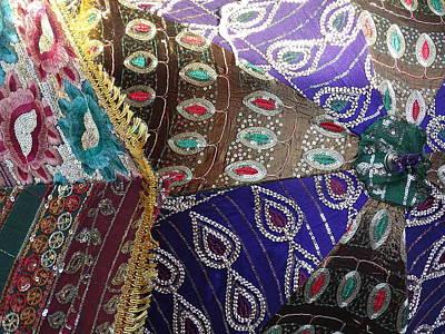Artisan Jewelry Photograph - Shopping Colorful Umbrellas Sale Jaipur Rajasthan India by Sue Jacobi