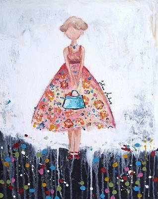 Figurativ Painting - Shopping Girl by Jolina Anthony