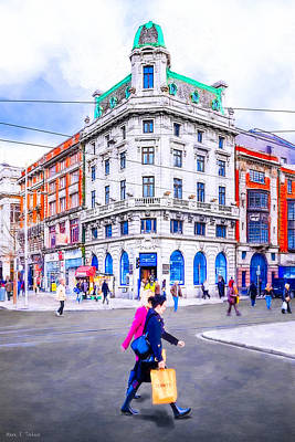 Photograph - Shopping In Dublin Ireland by Mark E Tisdale