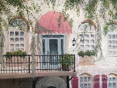 Art Print featuring the painting Shopping In Savannah by Marilyn Zalatan
