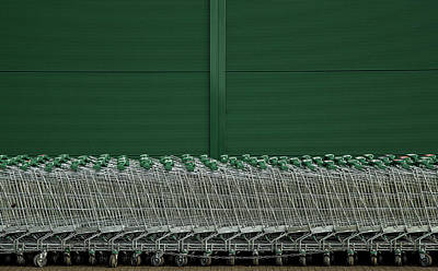 Shopping Wall Art - Photograph - Shopping Trolleys by Inge Schuster