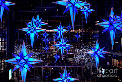 Photograph - Shops At Columbus Circle Christmas Decorations by Betsy Foster Breen