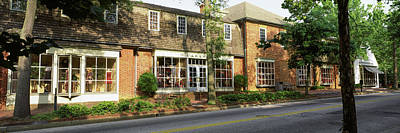 Shops At The Roadside, North Henry Art Print by Panoramic Images