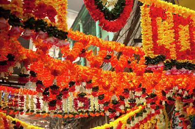 Diwali Photograph - Shops Decorated For Diwali, Old Delhi by Inger Hogstrom