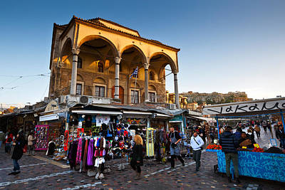 Monastiraki Photograph - Shops In Front Of Old Mosque by Milan Gonda