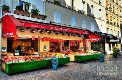 Shops On Rue Cler Art Print