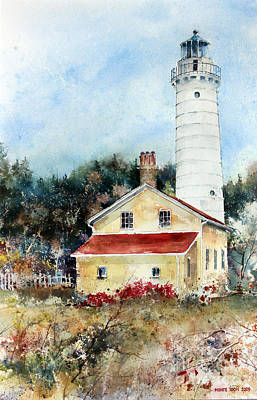 Painting - Shore Beacon by Monte Toon