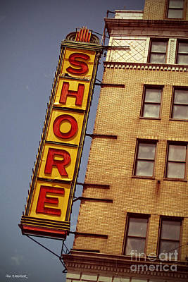 Cities Digital Art - Shore Building Sign - Coney Island by Jim Zahniser