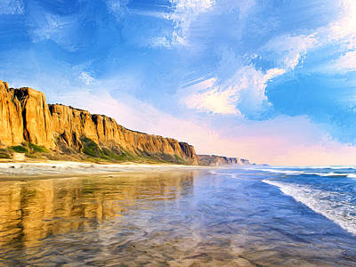 San Clemente Painting - Shore Cliffs Near San Onofre by Dominic Piperata