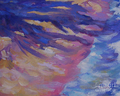 Vivid Colour Painting - Shoreline 20x16 by John Clark