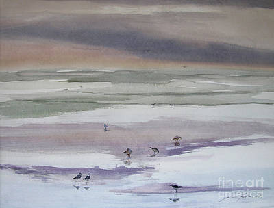 Shoreline Birds II Art Print