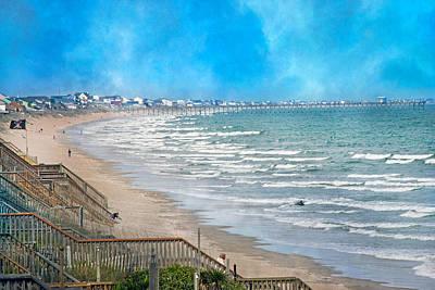 Windy Photograph - Shoreline  by Betsy Knapp