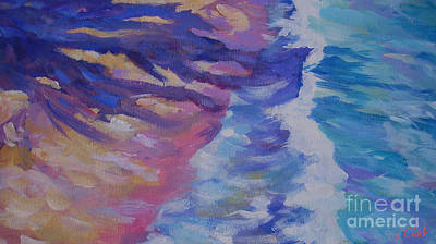 Vivid Colour Painting - Shoreline by John Clark