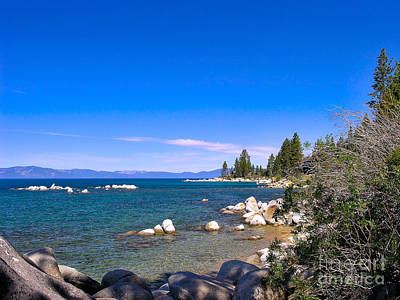 Photograph - Shoreline - Lake Tahoe by John Waclo