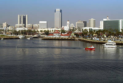Down Town Los Angeles Photograph - Shoreline Long Beach Ca 02 by Thomas Woolworth