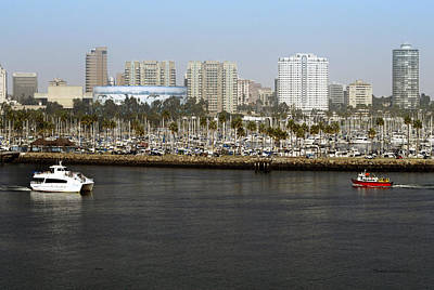 Down Town Los Angeles Photograph - Shoreline Long Beach Ca 04 by Thomas Woolworth