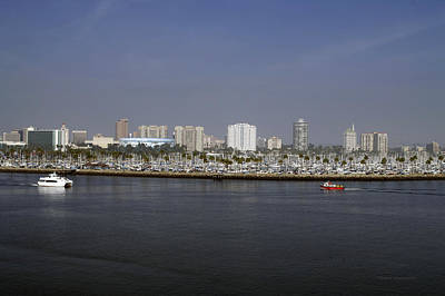 Down Town Los Angeles Photograph - Shoreline Long Beach Ca 05 by Thomas Woolworth