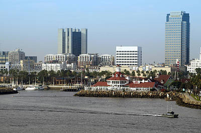 Down Town Los Angeles Photograph - Shoreline Long Beach Ca 06 by Thomas Woolworth