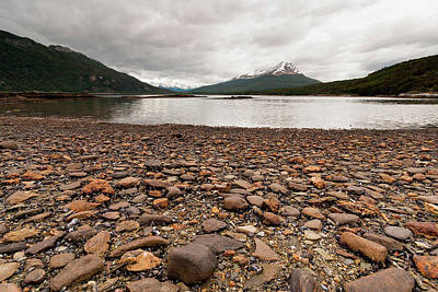 Grey Clouds Photograph - Shoreline Near The Drake Passage by James White