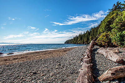 Juan De Fuca Photograph - Shoreline Of Vancouver Island by James White