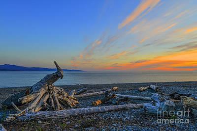 Photograph - Shoreline On Homer Spit Alaska by Dan Friend