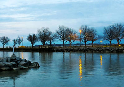 Lake Erie Photograph - Shoreline Park - Twilight Reflections by Shawna Rowe