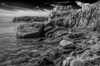 Photograph - Shoreline Rock Formations In Acadia National Park On Mount Desert Island by Randall Nyhof
