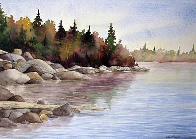 Wall Art - Painting - Shoreline Splendor by Linda McCallum