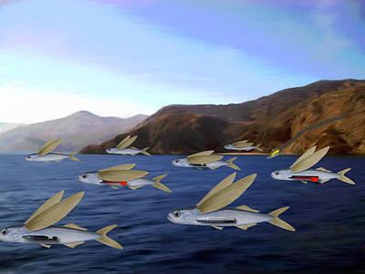 Shoreline Squadron Art Print by Snake Jagger