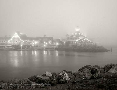 Photograph - Shoreline Village In The Fog by Denise Dube