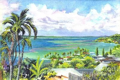 South Pacific Drawing - Shores Of Oahu by Carol Wisniewski