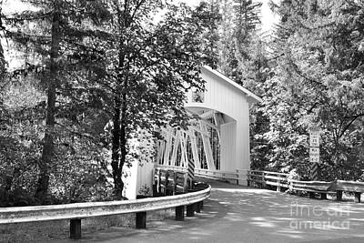 Photograph - Short Covered Bridge  by Ansel Price