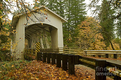 Short Covered Bridge Art Print